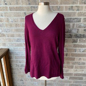 OLD NAVY Burgundy V Neck Sweater Pullover Purple M